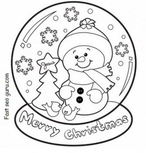 Christmas Snowman Coloring Pages 41
