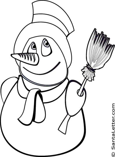 Christmas Snowman Coloring Pages 42