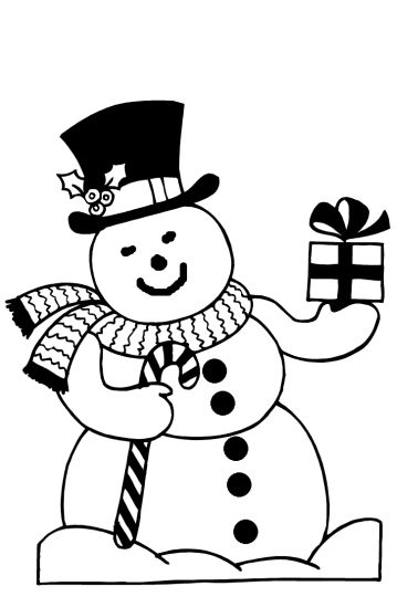Christmas Snowman Coloring Pages 47