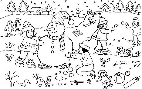 Christmas Snowman Coloring Pages 49