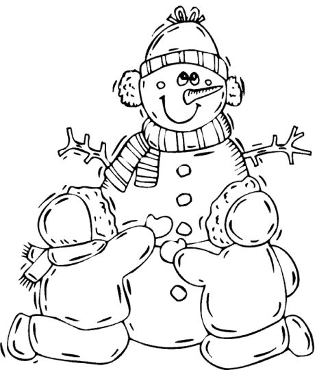Christmas Snowman Coloring Pages 50