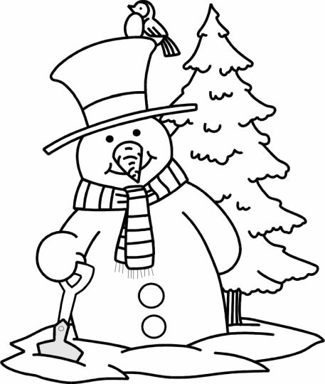 Christmas Snowman Coloring Pages 51