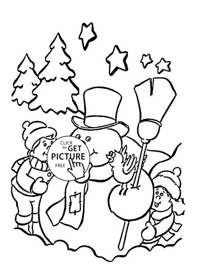 Christmas Snowman Coloring Pages 53