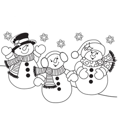 Christmas Snowman Coloring Pages 54