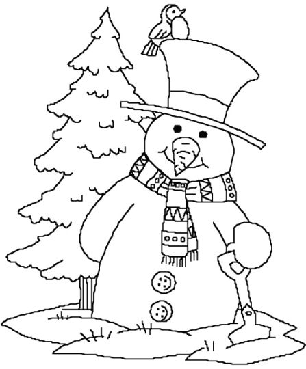 Christmas Snowman Coloring Pages 55