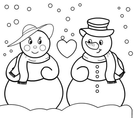 Christmas Snowman Coloring Pages 57