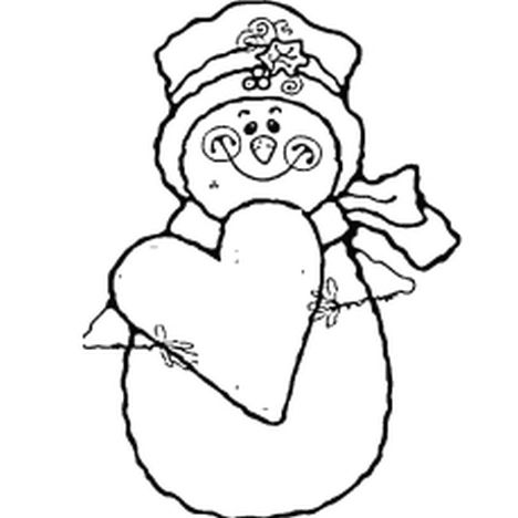 Christmas Snowman Coloring Pages 58