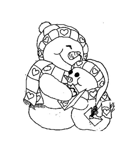 Christmas Snowman Coloring Pages 59