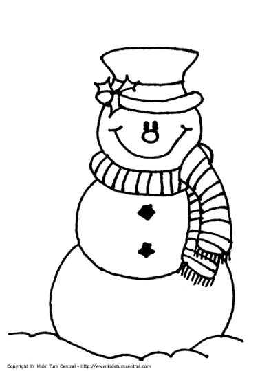 Christmas Snowman Coloring Pages 60