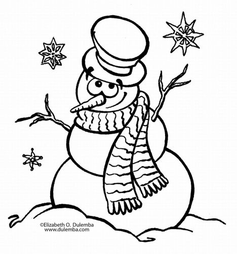 Christmas Snowman Coloring Pages 61