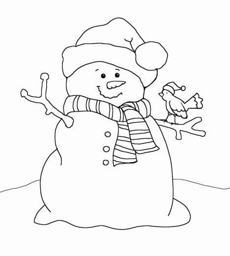 Christmas Snowman Coloring Pages 62