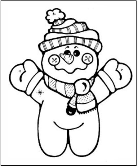 Christmas Snowman Coloring Pages 63
