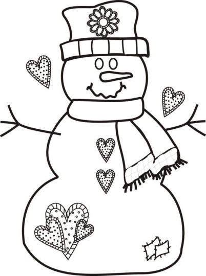 Christmas Snowman Coloring Pages 64