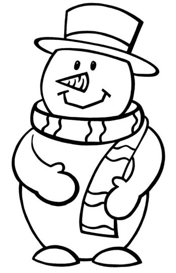 Christmas Snowman Coloring Pages 66