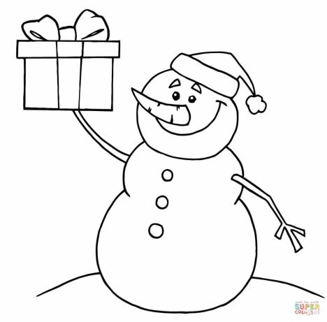 Christmas Snowman Coloring Pages 70