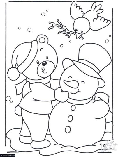 Christmas Snowman Coloring Pages 72