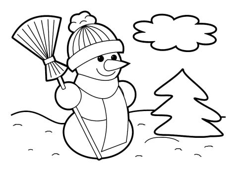 Christmas Snowman Coloring Pages 73