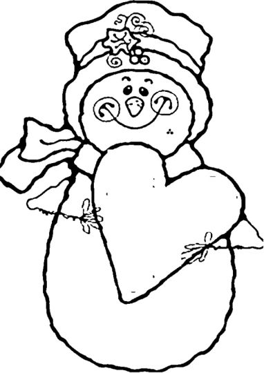 Christmas Snowman Coloring Pages part 8