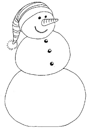 Christmas Snowman Coloring Pages 77