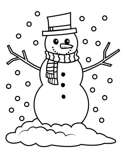 Christmas Snowman Coloring Pages 78