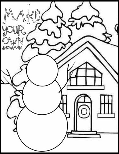 Christmas Snowman Coloring Pages 79