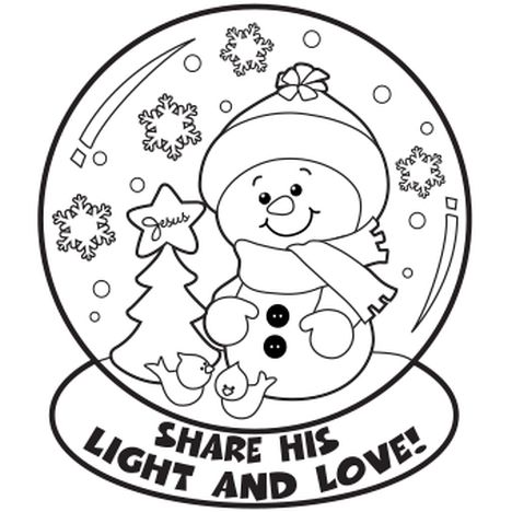 Christmas Snowman Coloring Pages 80