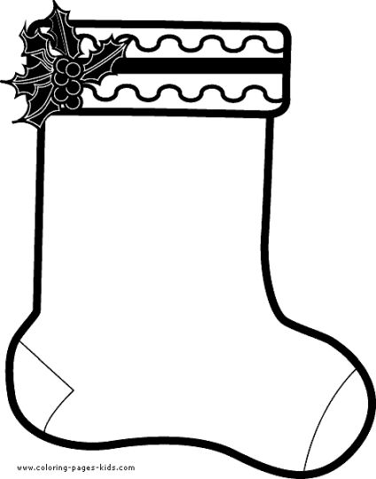 Christmas stocking coloring pages part