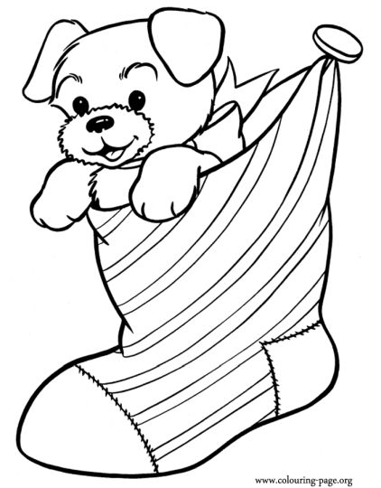 Christmas Stocking Coloring Pages 13