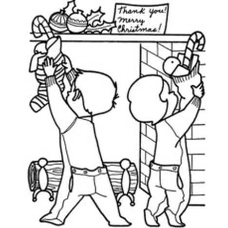 Christmas Stocking Coloring Pages 14