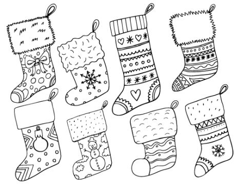 Christmas Stocking Coloring Pages 18