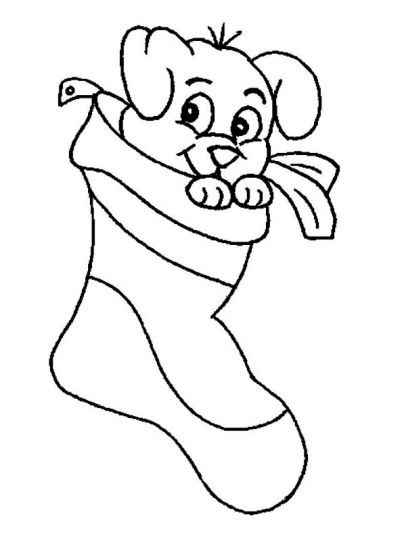 Christmas Stocking Coloring Pages 2