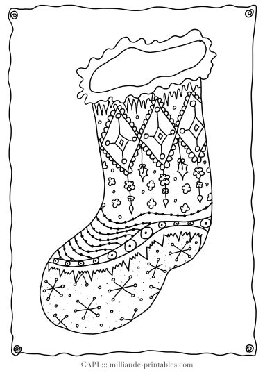 Christmas Stocking Coloring Pages 22