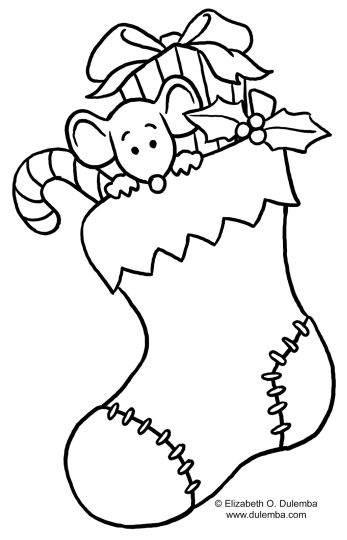 Christmas Stocking Coloring Pages 24
