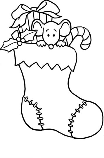 Christmas Stocking Coloring Pages 29