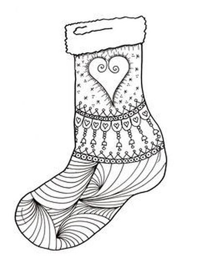 Christmas Stocking Coloring Pages 30