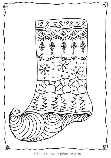 Christmas Stocking Coloring Pages 33