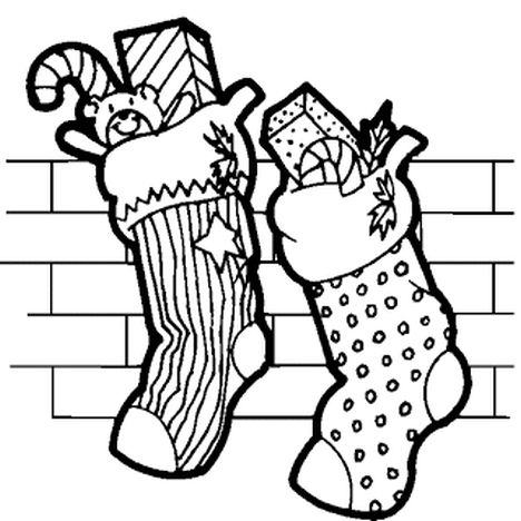 Christmas Stocking Coloring Pages 34