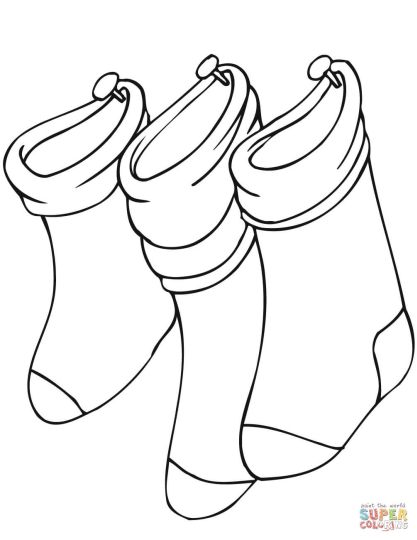 Christmas Stocking Coloring Pages 37