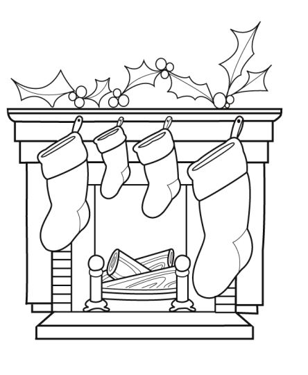 Christmas Stocking Coloring Pages 38