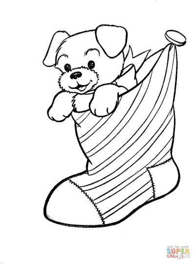 Christmas Stocking Coloring Pages 4