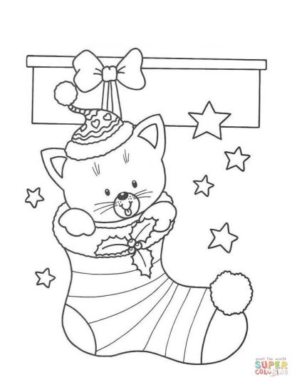 Christmas Stocking Coloring Pages 40