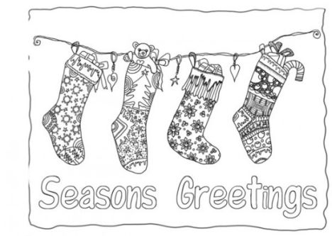 Christmas Stocking Coloring Pages 42
