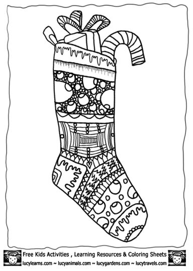 Christmas Stocking Coloring Pages 43