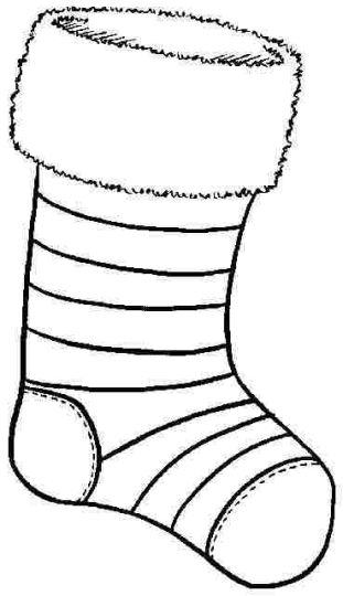 Christmas Stocking Coloring Pages 45