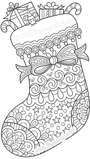 Christmas Stocking Coloring Pages 5