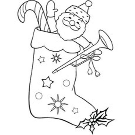 Christmas Stocking Coloring Pages 51