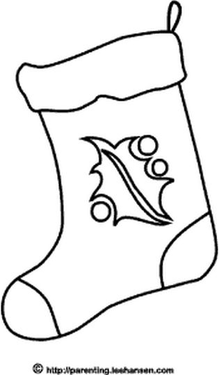 Christmas Stocking Coloring Pages 52
