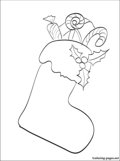 Christmas Stocking Coloring Pages 53