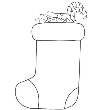Christmas Stocking Coloring Pages 55