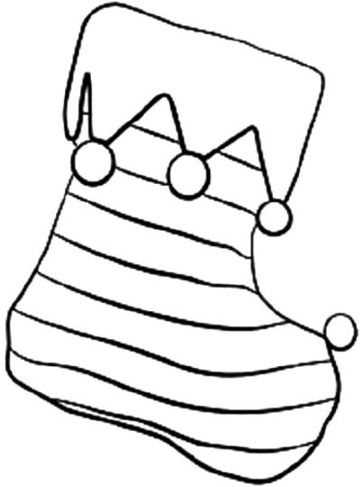 Christmas Stocking Coloring Pages 57